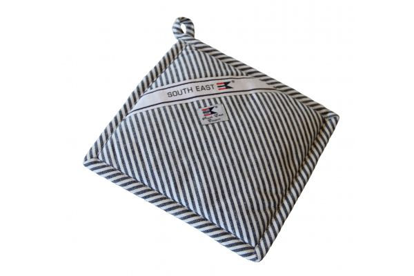 Striped Oxford potholder
