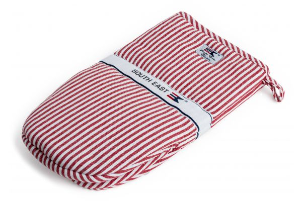 Striped Oxford Mitten Rödvitrandig