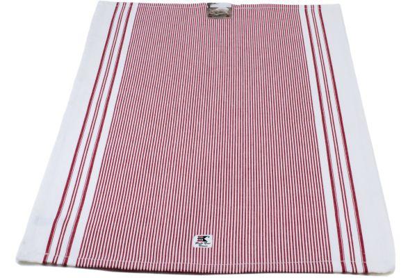 Striped Oxford kitchen towel Rödvitrandig