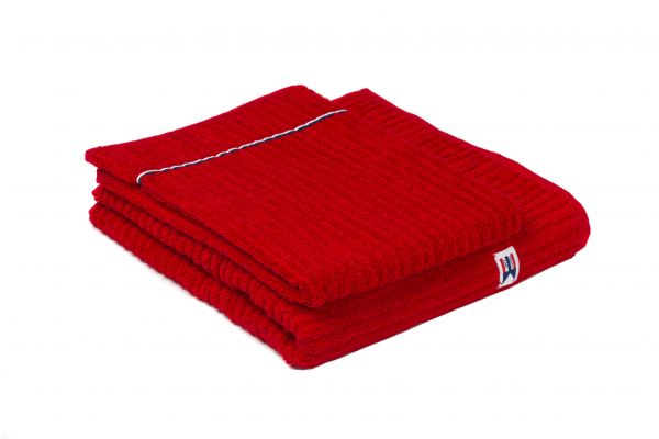 Ribbed Terry Bath Towel 70x130 Röd