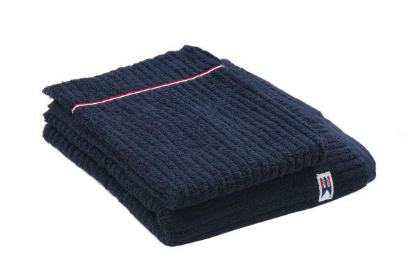 Ribbed Terry Bath Towel 70x130 Blå